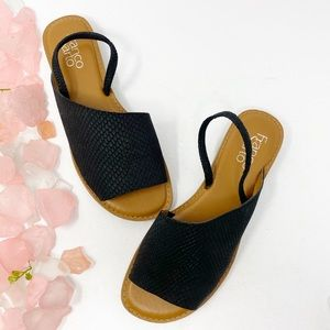 Franco Sarto Glory Leather Snake Embossed Sandals